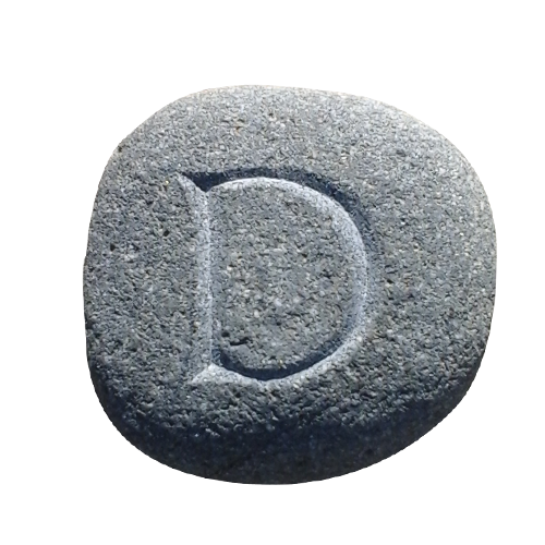 lettercutting-D roman -pebble-stephane-rouget