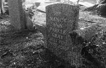 Headstone in cornish Granite